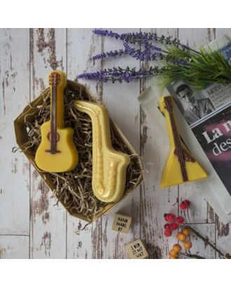 """Пластиковая форма для мыла """"Музыкальные  инструменты"""" 14х6х2,2, 14х7,5х2, 14х5,5х2,5 см арт. СМЛ-26240-1-СМЛ3436447"""