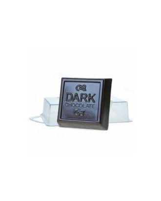 """Пластиковая форма для мыла """"Темный шоколад"""" 6,5х6,5х2,5 см арт. СМЛ-31226-1-СМЛ3436452"""