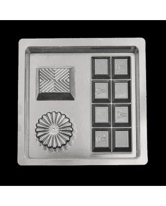 """Пластиковая форма для мыла МК """"Шоколад"""" 4,5х10,5, 4х3,5, d=4,5 см арт. СМЛ-10233-1-СМЛ3436460"""