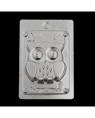 """Пластиковая форма для мыла """"Совушка"""" 7,5х2,3х7,5 см арт. СМЛ-31227-1-СМЛ3436514"""