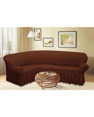 Чехол для мягкой мебели угловой диван 3-х местный 6057, трикотаж, 100% п/э, упаковка микс арт. СМЛ-10403-1-СМЛ3447939