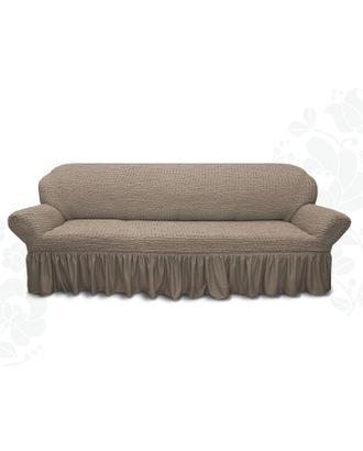Чехол для мягкой мебели диван 3-х местный 6082, трикотаж, 100% п/э, упаковка микс арт. СМЛ-26247-1-СМЛ3447941