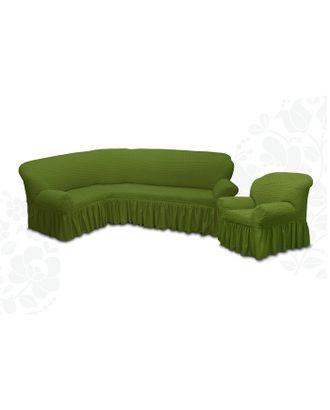 Чехол для мягкой мебели 2пред диван угловой, кресло 6016, трикот, 100% п/э, упаковка микс арт. СМЛ-32789-1-СМЛ3447946