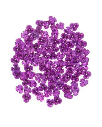 """Декор для творчества металл """"Розочки фиолет"""" набор 100 шт 0,8х0,8 см арт. СМЛ-10448-1-СМЛ3453469"""