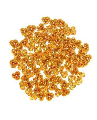"Декор для творчества металл ""Розочки золото"" набор 100 шт 0,8х0,8 см арт. СМЛ-10449-1-СМЛ3453470"