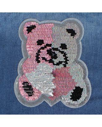 Термоаппликация двусторонняя «Медведь» р.17х19 см арт. СМЛ-23500-2-СМЛ3455434