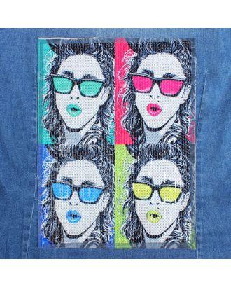 Аппликация из пайеток «Девушка в очках», 30,5 × 22,5 см арт. СМЛ-10486-1-СМЛ3455461