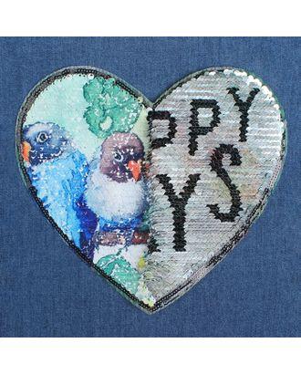 Аппликация из пайеток «Попугаи/happy days», двусторонняя, 21 × 20 см арт. СМЛ-10489-1-СМЛ3455464