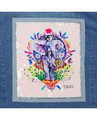 Аппликация из пайеток «Слон», 21,2 × 18,5 см арт. СМЛ-10490-1-СМЛ3455466