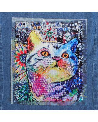 Аппликация из пайеток «Кошка», 21,2 × 18,5 см арт. СМЛ-10495-1-СМЛ3455471
