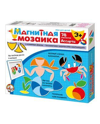 Мозаика магнитная «Ассорти», 78 элементов арт. СМЛ-10517-1-СМЛ3456994