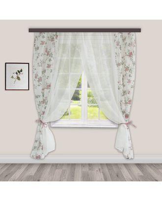 Комплект штор для кухни Акварель 280х160 см, сирень, 100% п/э арт. СМЛ-22988-2-СМЛ3457278
