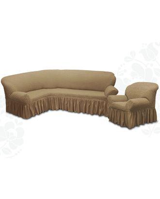 Чехол для мягкой мебели 2пред диван угловой, кресло 6082, трикот, 100% п/э, упаковка микс арт. СМЛ-10530-1-СМЛ3458314