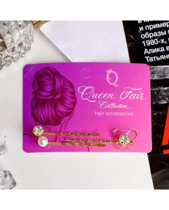 """Невидимка для волос """"Терция"""" 5,5 см (набор 3 шт) незабудка арт. СМЛ-10659-1-СМЛ3471882"""