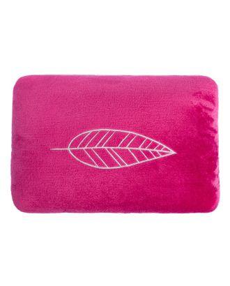 """Подушка """"Лист"""", цвет вишнёвый, р-р 40х30 см, с вышивкой, 100% П/Э, велсофт арт. СМЛ-10712-1-СМЛ3474167"""
