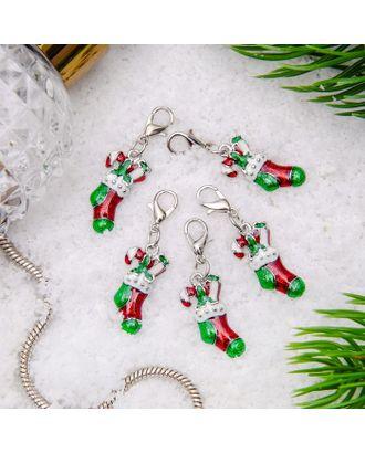 """Шарм """"Рождественский носок с леденцами"""" арт. СМЛ-10730-1-СМЛ3474470"""