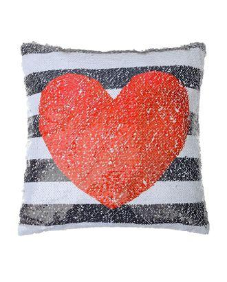 Наволочка Этель «Сердце», 40 × 40 см, декоративная, с пайетками, велюр, п/э 100 % арт. СМЛ-10847-1-СМЛ3485648
