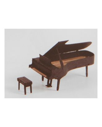 """Модель 3D """"Пианино"""" из бумаги с лазерной резкой арт. СМЛ-11081-1-СМЛ3495067"""