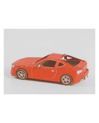 """Модель 3D """"Машина"""" из бумаги с лазерной резкой арт. СМЛ-11084-1-СМЛ3495070"""