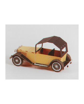 """Модель 3D """"Винтажная машина"""" из бумаги с лазерной резкой арт. СМЛ-11085-1-СМЛ3495071"""