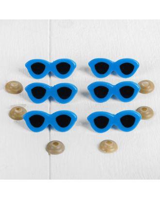 Очки винтовые с загушками, набор 6 шт, размер 1 шт 3,8х1,5 см арт. СМЛ-11088-1-СМЛ3495175