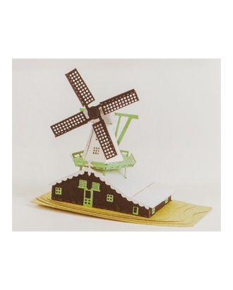 """Модель 3D """"Мельница"""" из бумаги с лазерной резкой арт. СМЛ-11091-1-СМЛ3495232"""