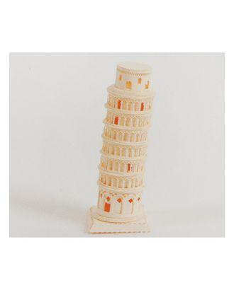 """Модель 3D """"Пизанская башня"""" из бумаги с лазерной резкой арт. СМЛ-11092-1-СМЛ3495233"""