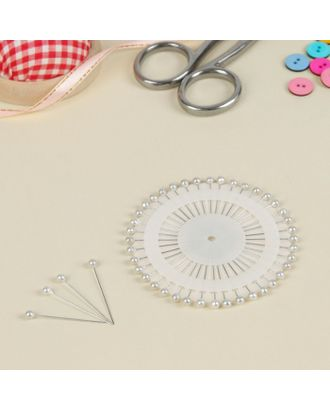 Булавочница круглая, д.8 см, 3,8 см, цвет белый арт. СМЛ-11136-1-СМЛ3498751