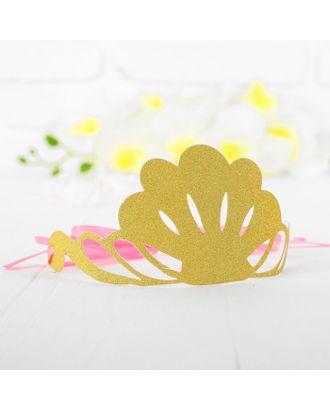 Корона «Великолепие», цвет золотой арт. СМЛ-100699-1-СМЛ0003501350