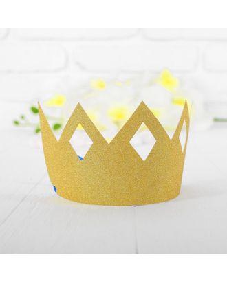Корона «Узор», цвет золотой арт. СМЛ-100705-1-СМЛ0003501352