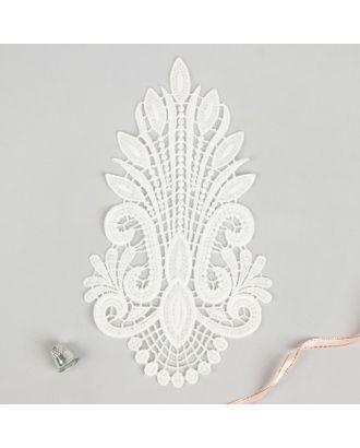 Вязаный элемент, пришивной, 25 × 13,5 см, цвет белый арт. СМЛ-11190-1-СМЛ3513977