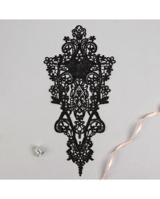 Вязаный элемент, пришивной, 30 × 15,5 см, цвет чёрный арт. СМЛ-11203-1-СМЛ3513990