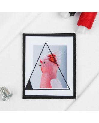 Пришивная аппликация «Попугай», 10 × 8 см арт. СМЛ-11208-1-СМЛ3514003