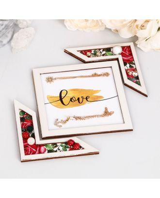 """Подставка для аксессуаров """"Love"""" розы арт. СМЛ-11283-1-СМЛ3517421"""