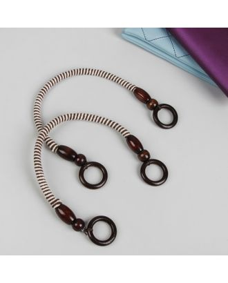 Ручки для сумки, 2 шт, вощёный шнур, 46 × 4,5 см арт. СМЛ-22313-2-СМЛ3526544