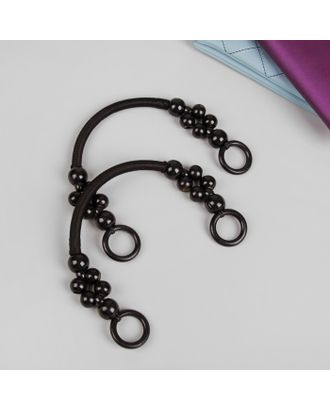 Ручки для сумки, 2 шт, вощёный шнур/дерево, 46,5 × 4 см арт. СМЛ-22314-2-СМЛ3526549