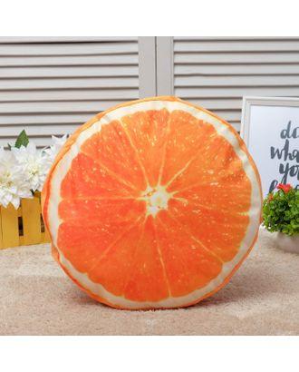 Подушка декоративная Этель «Сочный апельсин», диаметр 40 см, 100% п/э арт. СМЛ-11442-1-СМЛ3544575