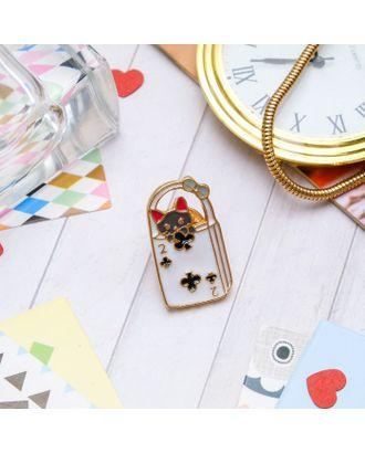 """Значок """"Котенок в сумке"""", цветной в золоте арт. СМЛ-11501-1-СМЛ3548668"""