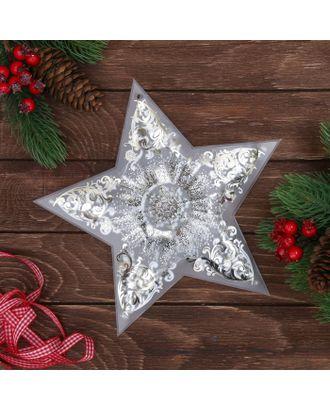 Декор звезда с гирляндой «Волшебства!», 25 × 23.8 см арт. СМЛ-120881-1-СМЛ0003557125