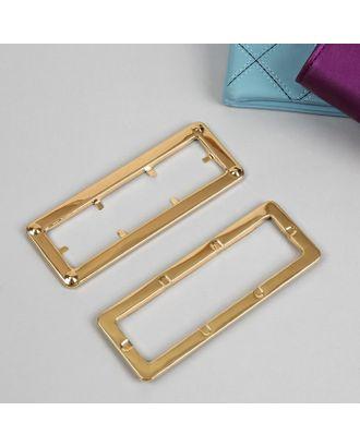Ручка для сумки, металлическая, 1 шт (2 части), 15х5,5 см, цвет золотой арт. СМЛ-11672-1-СМЛ3562557
