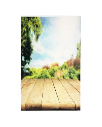 """Фотофон винил """"Солнечное утро в лесу"""" стена+пол 81,5х127,5 см арт. СМЛ-120796-1-СМЛ0003563227"""