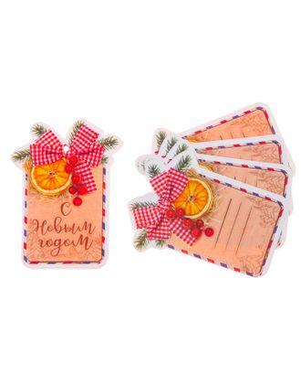 Шильдик декоративный на подарок «Уютное настроение», 6,5 × 8,8 см арт. СМЛ-120777-1-СМЛ0003566108