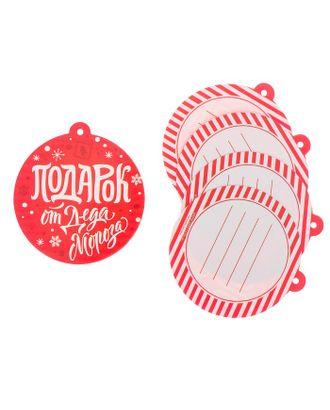 Шильдик декоративный на подарок «Подарок от Деда Мороза», 6,5 × 7,1 см арт. СМЛ-120780-1-СМЛ0003566112