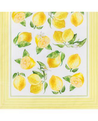 """Дорожка на стол """"Лимоны"""" 40*146 см, 100% хл, саржа 190 гр/м2 арт. СМЛ-11847-1-СМЛ3571434"""