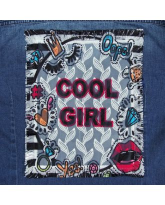 Пришивная аппликация «Cool girl», 24,5 × 19 см арт. СМЛ-12104-1-СМЛ3587821