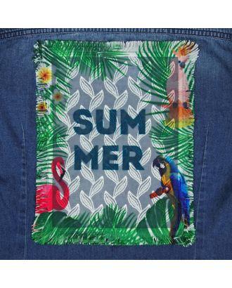 Пришивная аппликация «Summer», 24,5 × 19 см арт. СМЛ-12110-1-СМЛ3587880