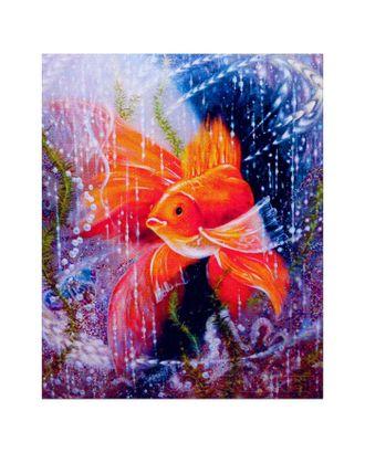 """Алмазная мозаика """"Золотая рыбка"""" 30 × 40 см, 35 цветов арт. СМЛ-12314-1-СМЛ3594508"""