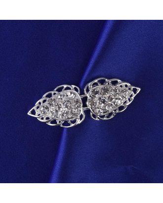 Декоративная застёжка, 6 × 2 см, цвет серебряный арт. СМЛ-37472-1-СМЛ0003602787