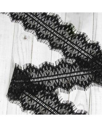 Французское кружево ш.11см, цв. черный арт. СМЛ-29004-1-СМЛ3609358