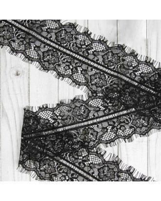 Французское кружево ш.12,5см, цв. черный арт. СМЛ-29005-1-СМЛ3609449